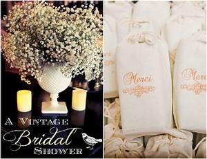 Vintage inspired bridal shower rustic wedding chic for Wedding showers themes