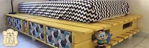 Lit En Palette Avec Rangement : lit avec des palettes simple tete de lit palette mulhouse with lit avec des palettes fabriquer ~ Melissatoandfro.com Idées de Décoration