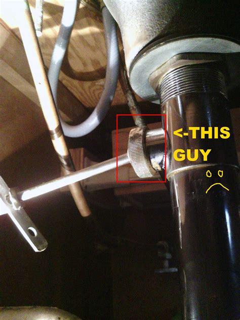 plumbing    loosen  bathroom stopper pivot nut