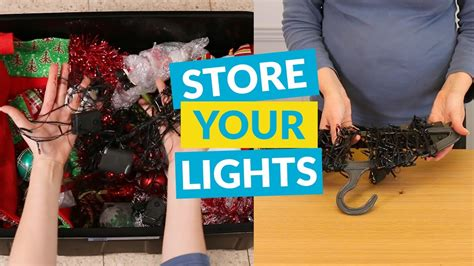 the best way to store christmas lights youtube