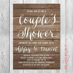 rustic couples shower invitation printable shabby chic With couples wedding showers