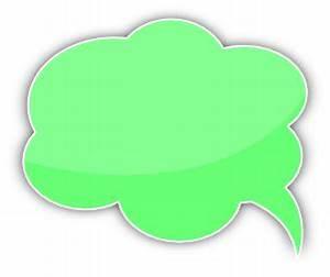 speech bubble cloud green left - /blanks/callouts/color ...