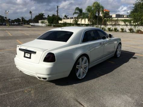 customized rolls royce interior sell used rolls royce ghost sedan 4 door white with red