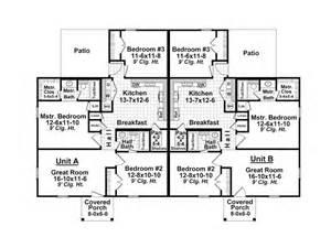 Multi-Family Duplex Floor Plans