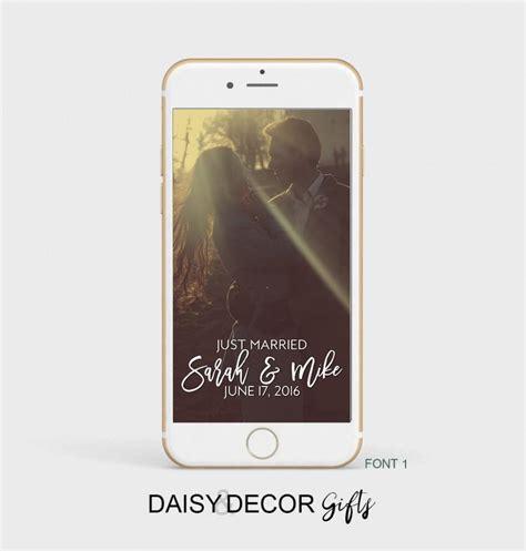 wedding snapchat filter wedding snapchat geofilter wedding geofilter personalized filter customized names on demand
