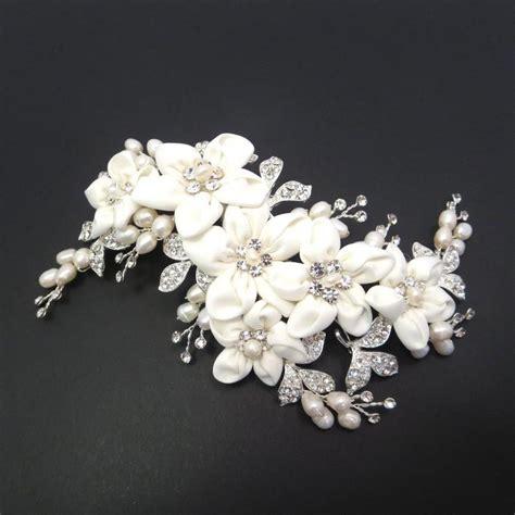 bridal hair clip bridal headpiece flower headpiece