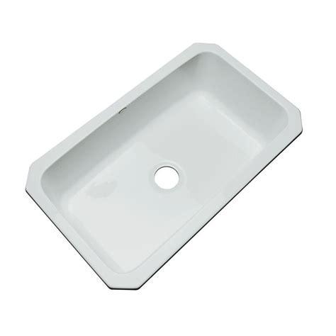 sterling kitchen sink thermocast manhattan undermount acrylic 33 in single bowl 2512