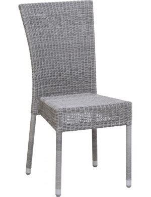 galet de chaise chaise isabelle de jardin en résine coloris galet