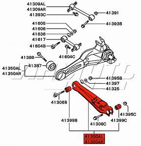 Viamoto Mitsubishi Car Parts Rear Bottom Arm - Mitsubishi Evo 1 Cd9a  Evo 1 Cd9a - Suspension