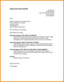 Outline For Resume Cover Letter by 5 Outline For Cover Letter Resume Setups