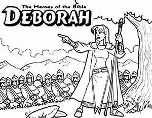Deborah And Barak Coloring Page - Coloring Home