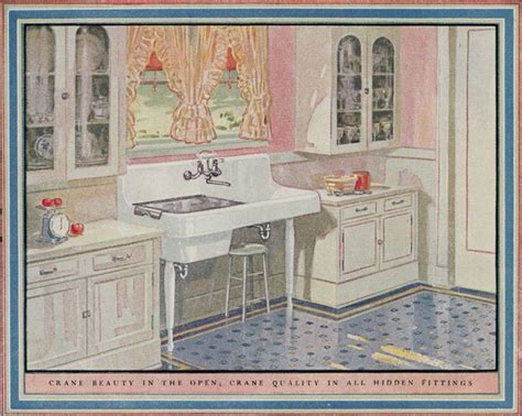 retro cabinets kitchen 1925 crane plumbing kitchen design of the 1920s 1926