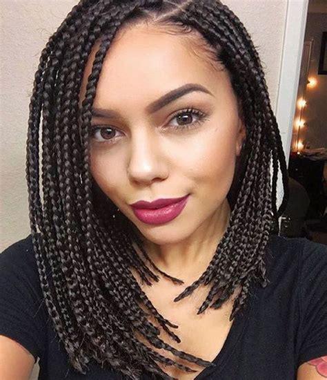 Box braids hairstyles are one of the most popular african american protective styling choices. 14 Dashing Box Braids Bob Hairstyles for Women | New Natural Hairstyles