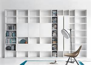 Contemporary Black Bookcase by Lema Selecta 03 Wall Unit Bookcase Customisable