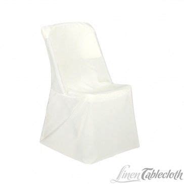 polyester lifetime folding chair cover white