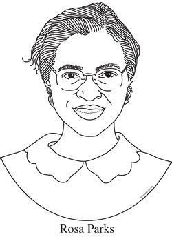 rosa parks realistic clip art coloring page  poster  cordial clips