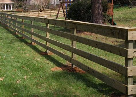 Wooden Horse Fences With Wire