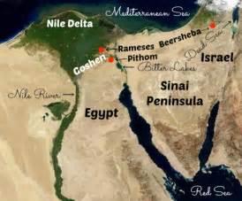 Map of Ancient Egypt Goshen