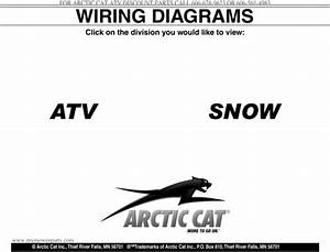Arctic Cat All Atv And Snowmobile 2000 2009 Wiring Diagram S Complete Official Factory