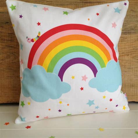 children s pillow children s rainbow cushion by halfpinthome