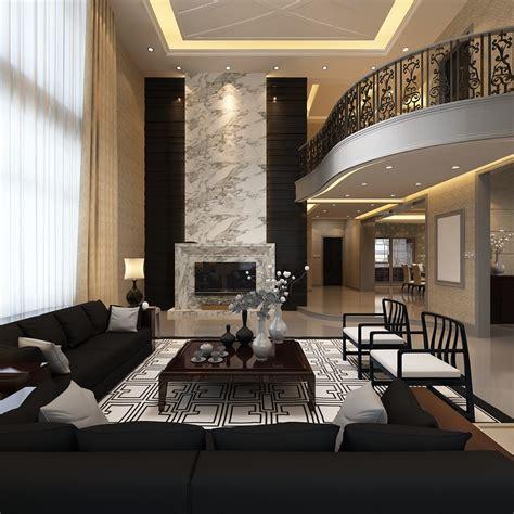 Elegant Living Room With Balcony 3d Model Max Cgtradercom