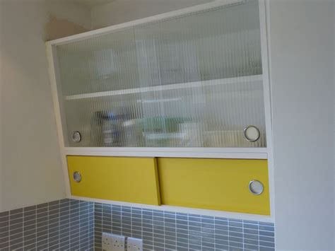 Wall Cupboards With Sliding Doors by 1950 S Style Angled Wall Cabinet With Formica And Reeded