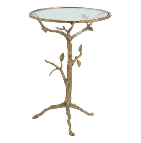 antique brass side table sherwood sculpted tree branch antique brass side table s