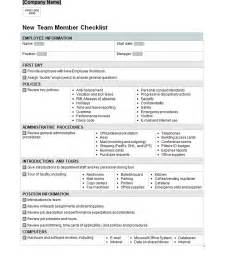 New Employee Orientation Checklist Templates