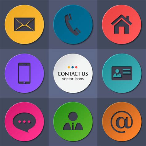 contact icons business card images business card