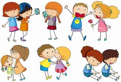 Activities Friends Doing Different Vector Hugging Children
