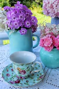 Fresh Flowers and Tea Cups