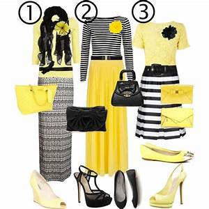 Black white yellow dresses black white yellow dresses black white yellow comment which outfit is ...