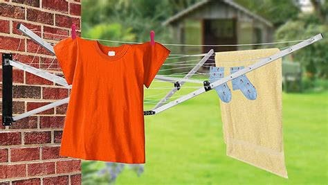 arm  wall mounted washing  clothes airer rotary