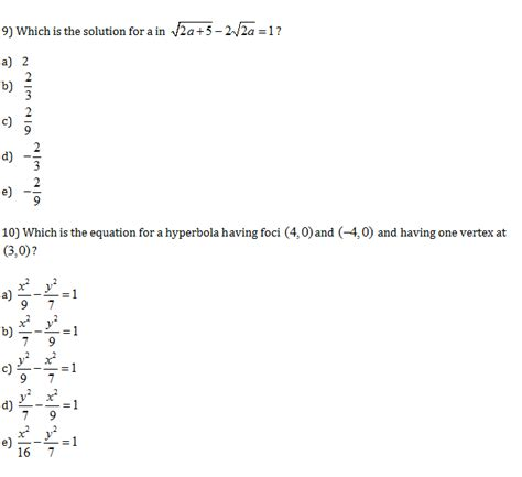 CLEP Precalculus Practice Test Questions - Study Guide Zone
