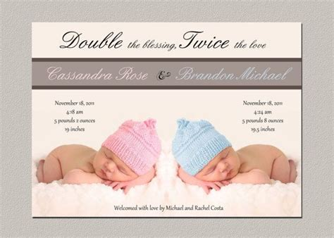 twin birth announcements photo cards the 25 best twin baby announcements ideas on pinterest