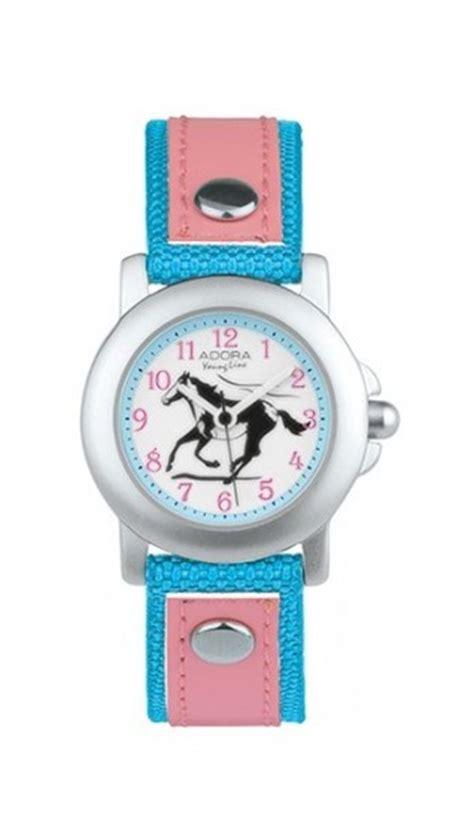 armbanduhr kinderuhr pferd blau pink adora youngline