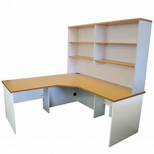 Origo Corner Workstation Office Desk Home Study - Beech