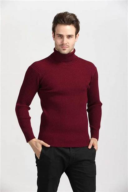 Sweater Mens Sweaters Cashmere Turtleneck Thick Pullover