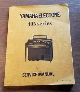 Yamaha Electone 405 Service Manual  Yamaha