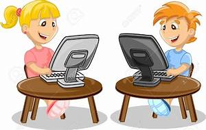 Student Working On Computer Clipart - ClipartXtras