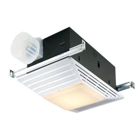 Home Depot Bathroom Exhaust Fan Heater by Broan 50 Cfm Ceiling Exhaust Fan With Light And Heater