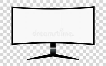Monitor Elements Blank Template Screen Mock Isolated