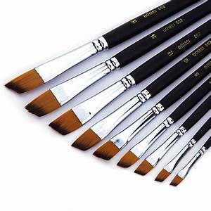 9pcs Paint Brush Oil Acrylic Paint Brush Watercolor Brush ...