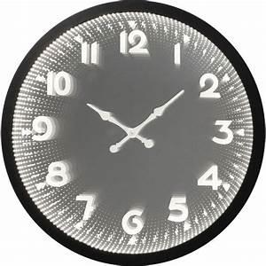 Horloge Murale Led : horloge murale noire led solo kare design ~ Teatrodelosmanantiales.com Idées de Décoration
