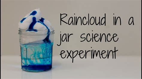 rain cloud   jar science experiment youtube