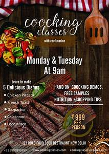 Free Flyer Maker Printable Cooking Classes Flyer Template Free Psd Freedownloadpsd Com