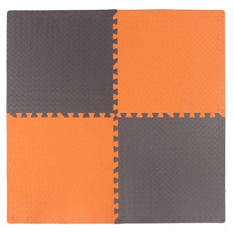 home depot orange connect a mat utility grey and home depot orange 24 inches x 24 inches 4 pack the home