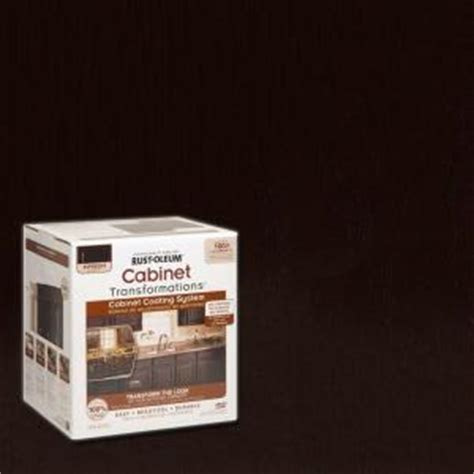 Rustoleum Cabinet Refinishing Home Depot by Rust Oleum Transformations 1 Qt Espresso Small Cabinet
