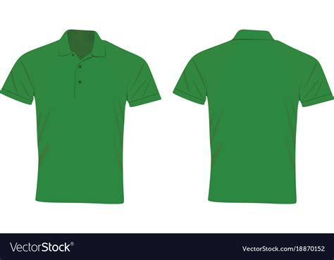 T Shirt Tshirt Green Light green polo t shirt royalty free vector image vectorstock