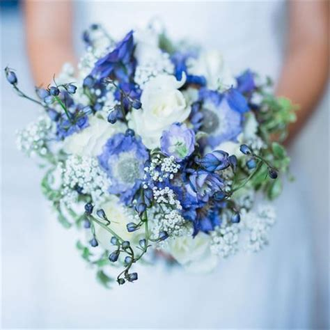 inspiration gallery  blue wedding flowers hitchedcouk